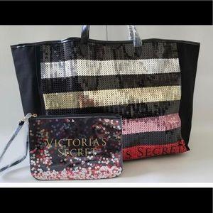 Victoria Secret tote and clutch